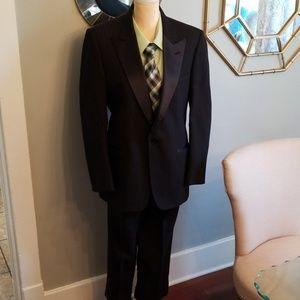 Christian Dior Black Stripe Tuxedo Suit Size 40R